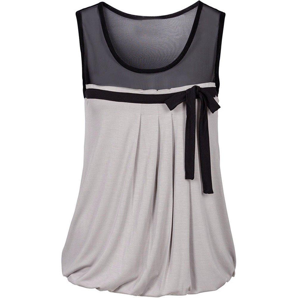 Damen Weste Tr/äGershirts Bluse Frauen Sommer Beil/äUfiges Bogen Spitze T Shirt /äRmellose Hemd Sweatshirt Oberteil