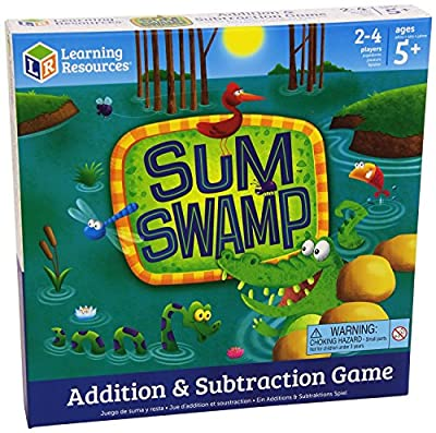 Sum Swamp Addition & Subtraction Game, Ages 4and Up
