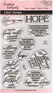 Stamp Simply Clear Stamps Hope Christian Religious - Inspirational Words 4x6 Inch Sheets - 10 Pieces