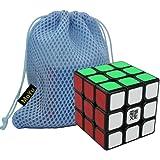 New MoYu AoLong V2 Cube Speed Puzzle Cube smooth turning Cube Toy Magic Cube (Black) + One MoYu Cube Bag