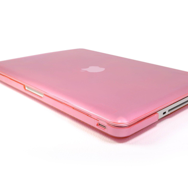 Incutex funda para ordenador portátil para Apple MacBook, rígida rosa transparente Macbook Pro 15