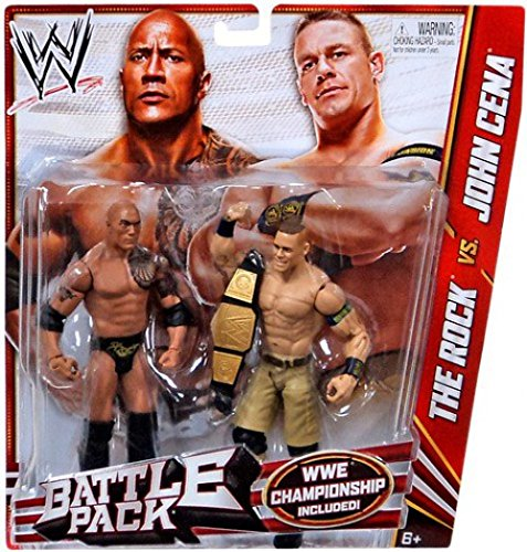 WWE Battle Pack Series #24 The Rock and John Cena Action Figure, 2-Pack (Wwe Championship John Cena Vs The Rock)