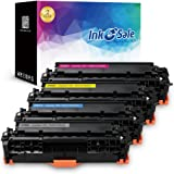 INK E-SALE Compatible Toner Cartridge Replacement for HP CC530A (Black, 4-Pack)