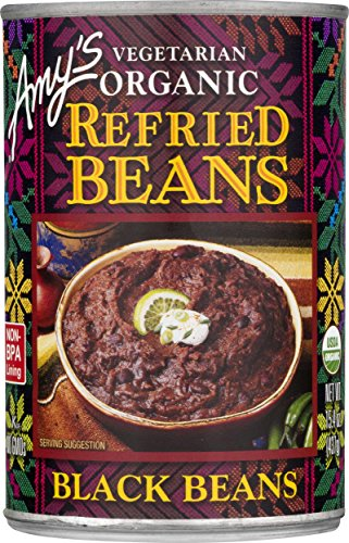 Kosher Organic Black Beans - Amy's Organic Refried Beans, Black Beans, 15.4 Ounce (Pack of 12)