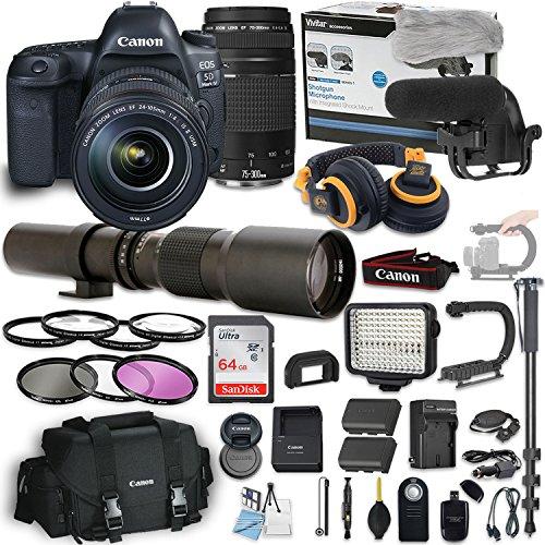 Canon EOS 5D Mark IV DSLR Camera w/24-105mm f/4L IS II USM L