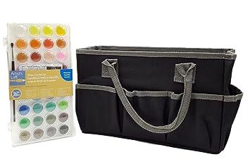 Amazon.com Artistu0027s Loft Fundamentals Craft Tote Bag Storage (Bundle set Pack) and Watercolor Pan Set 36 Color  sc 1 st  Amazon.com & Amazon.com: Artistu0027s Loft Fundamentals Craft Tote Bag Storage ...