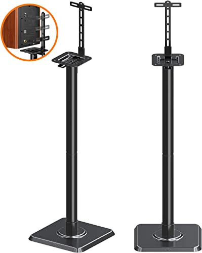 Mounting Dream Speaker Stands Bookshelf Speaker Stands for Universal Satellite Speakers, Set of 2 for Bose Polk JBL Sony Yamaha and Others – 11 lbs Capacity