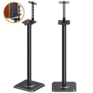 Mounting Dream Speaker Stands Bookshelf Speaker Stands for Universal Satellite Speakers, Set of 2 for Bose Polk JBL Sony Yamaha and Others - 11 lbs Capacity