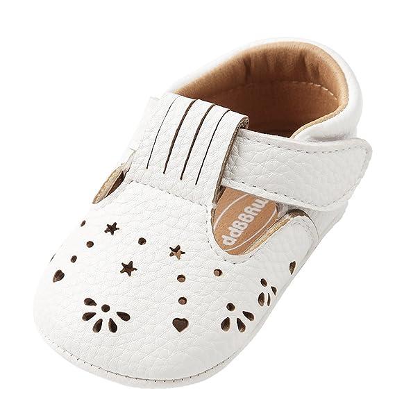 YanHoo Zapatos para niños Bolsa de Zapatos de niño de Fondo Suave Baby Girl Princess Leather