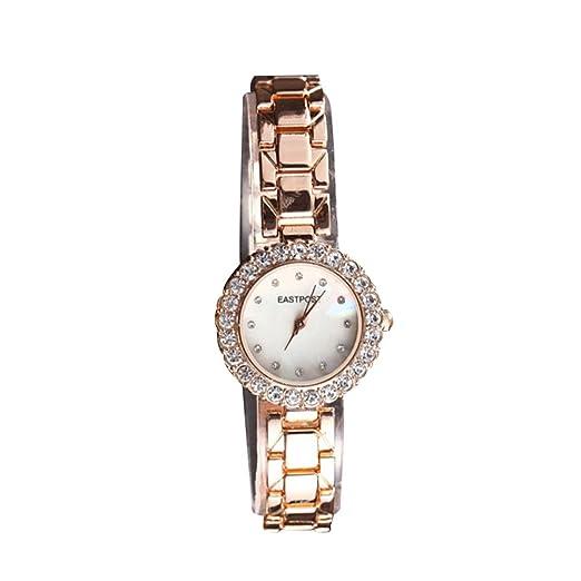 Abrray - Reloj de pulsera para mujer, con diamantes de imitación, 2 piezas, reloj y pulsera: Amazon.es: Relojes