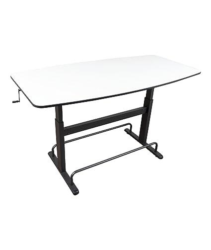 Amazoncom Height Adjustable Standing Conference Table Meeting - Height adjustable meeting table