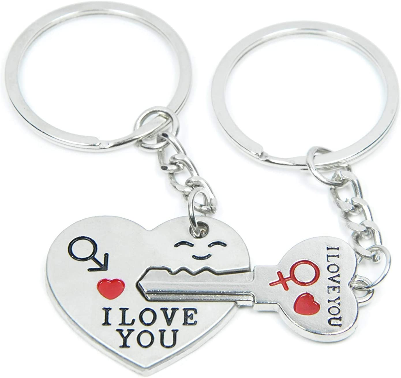 His /& Hers Key To My Heart Couples Necklace Key Ring Xmas Gifts For Her Wife Him
