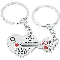 Sungpunet Key to My Heart Cute Couple Keychain Love Keychain Key Ring