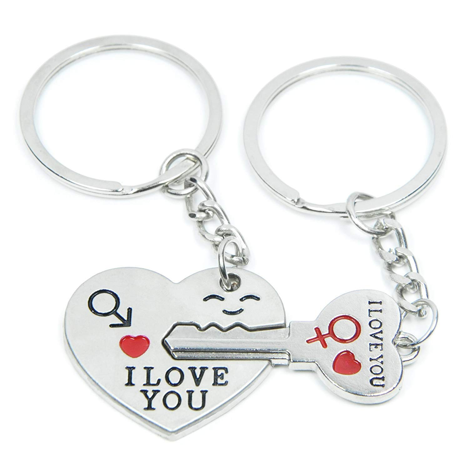 SOSUO Love Key To My Heart Cute Couple Keychain Love Keychain Key Ring