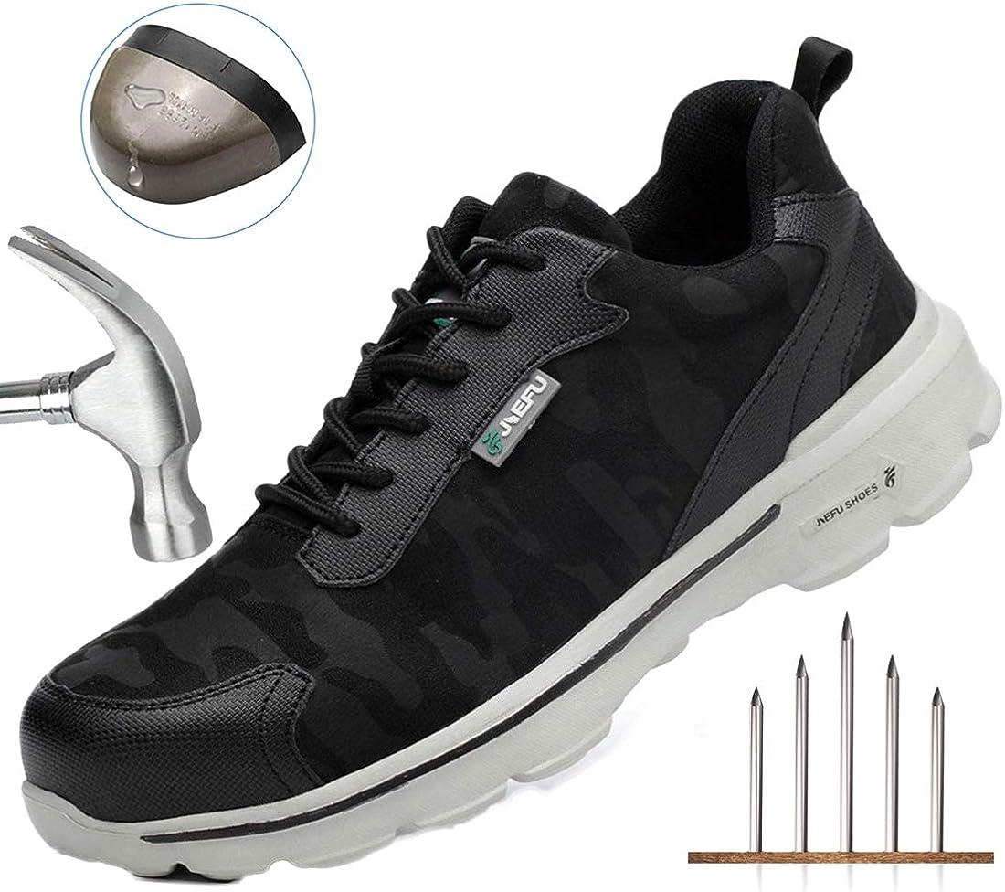 Zapatos de Seguridad Hombres con S3 Puntera de Acero Zapatillas de ...