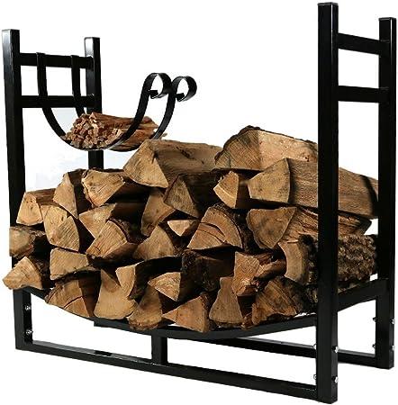 Log Rack Firewood Holder Wood Storage Indoors Fireplace Steel NEW
