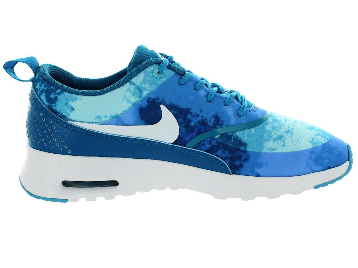 Nike Wmns Air Max Turquoise Thea Print Damen Sneakers Turquoise Max Blau/schwarz eb6b51