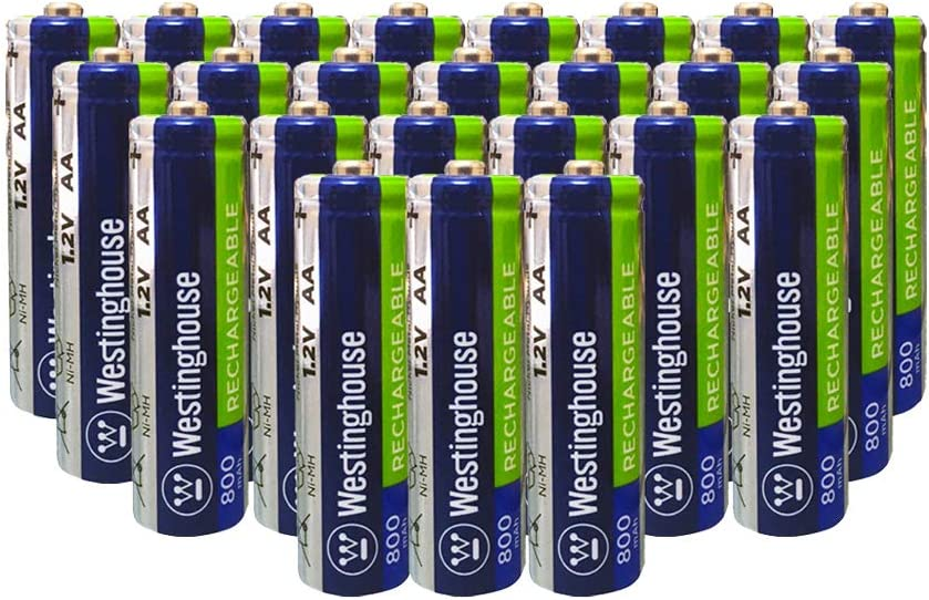 Westinghouse Pre-Charged Ni-Mh AA Solar Batteries 1.2V 800mAh, 24 Pack