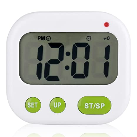 Despertador Digital LCD Reloj de vibración con pilas Reloj de temporizador portátil moderno con retroiluminación Se