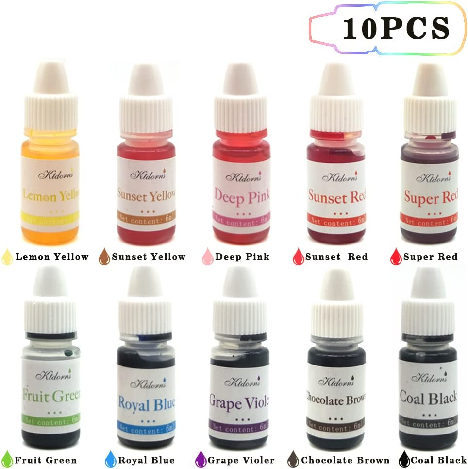 Gel Food Colouring Food dye Flo Concentrated Liquid Food Air Brush - 10  Colours