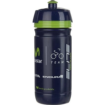 Amazon.com: Elite Corsa Movistar Team Botella de agua, 550 ...