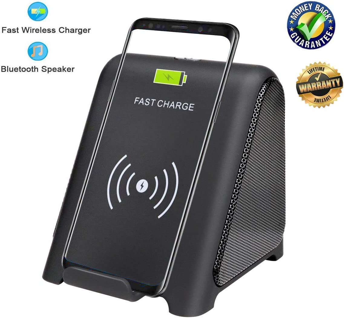 Black Any Warphone 2 in 1 Audio Player /& 10 W//7.5 W//5W Fast Charging Stand Holder Compatible for Samsung GalaxyS9,S9+,S8 Note 9 iPhone X//XS Max//XR//XS//8P Wireless Charger with Bluetooth Speaker