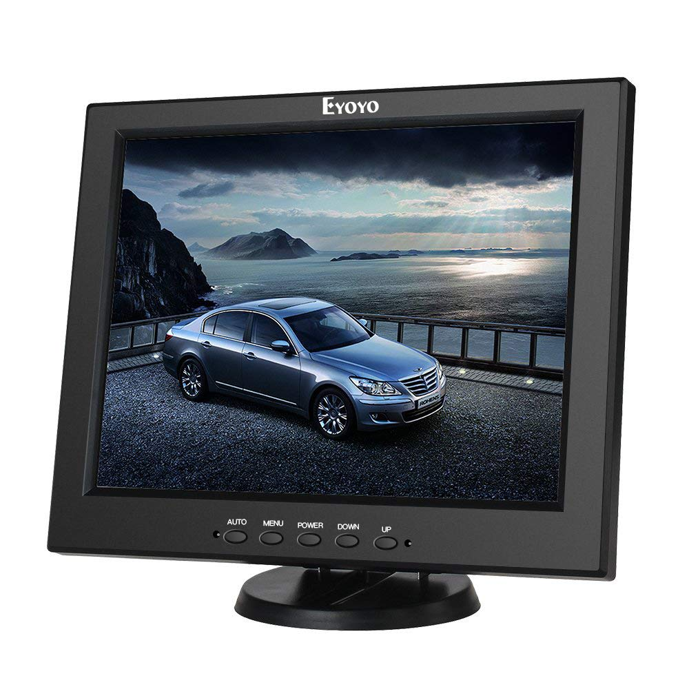 Eyoyo 12 Inch HDMI Monitor with BNC VGA AV HDMI Input 800x600 Portable 4:3 TFT LCD Mini HD Color Video Screen with Bulit-in Speaker by Eyoyo