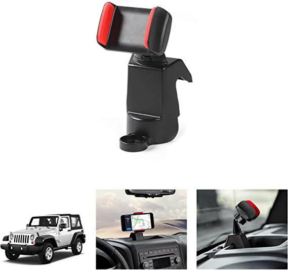 Black Voodonala for Jeep JK Phone Holder Mount for 2011-2018 Jeep Wrangler JK JKU