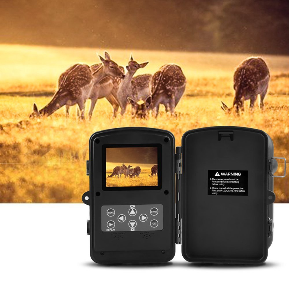 Lixada HD Wildlife Trail Camera Trap 12MP Infrared Cam with Night Vision, 120°Wide Angle Motion Activated 2.4in LCD Display for Outdoor Nature Garden Home Security Surveillance by Lixada (Image #6)