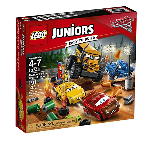 Disney/Pixar CARS 3 - Details & Downloadable Activity Sheets #Cars3 - LEGO Juniors Thunder Hollow Crazy 8 Race 10744 Building Kit