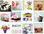 12 Mixed Thank You Greeting Card Pack