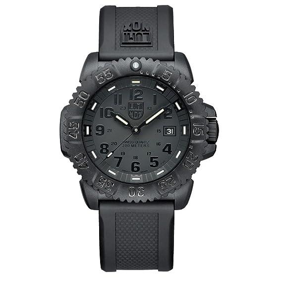 Luminox Men S Navy Seal Colormark 3050 Series All Black Watch 3051 Bo
