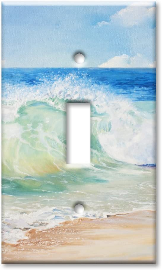 Art Plates Brand Single Toggle Switch/Wall Plate - Beach Painting