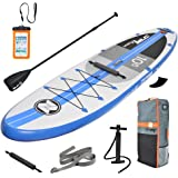 """Zray Paddle Board for Touring 10'6""""/11'6"""" Inflatable SUP Package, 6"""" Thick"""