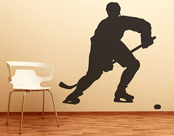 Amazon.com: Stickerbrand Sports Hockey Player Wall Decal Sticker ...