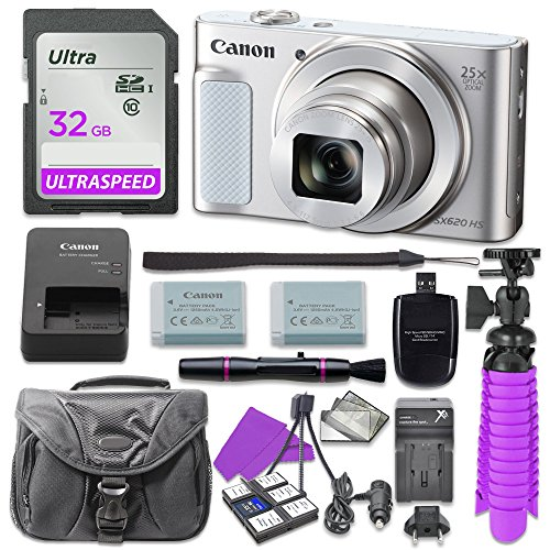 canon-powershot-sx620-hs-digital-camera-silver-with-32gb-sd-memory-card-accessory-bundle