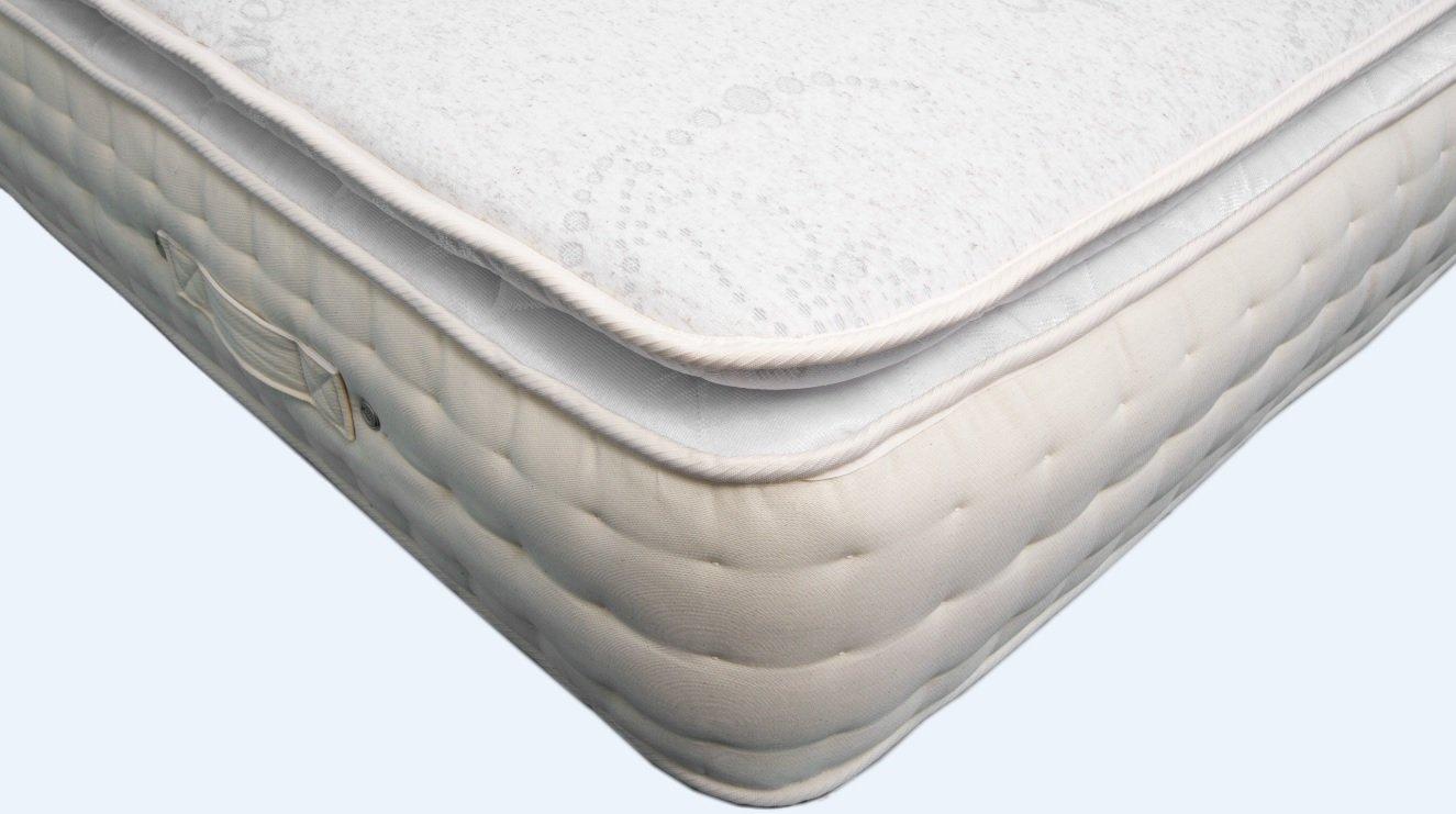 Parte superior de almohada 2000 bolsillo colchón de muelles con lino Natural, lana de cordero, relleno de seda Cachemira colchón - todos los UK tamaño ...