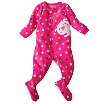 eca4e08f3 Amazon.com   Carter s Girls One-piece Microfleece Footed Sleeper ...