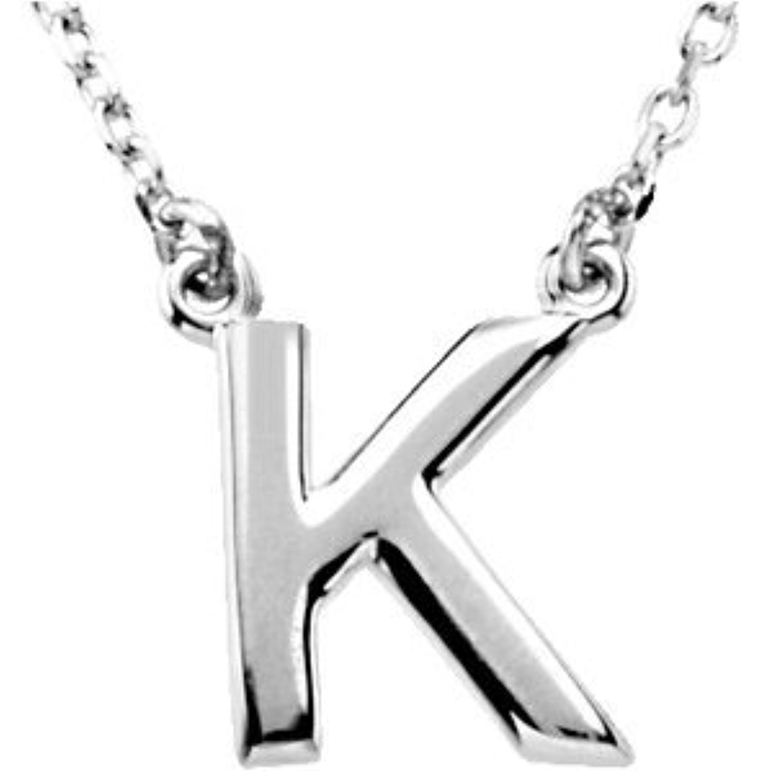 Sterling-silver Block Initial Necklace
