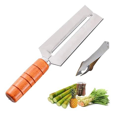 Amazon.com: Super ZR - Cuchillo de piña para pelar cañas de ...