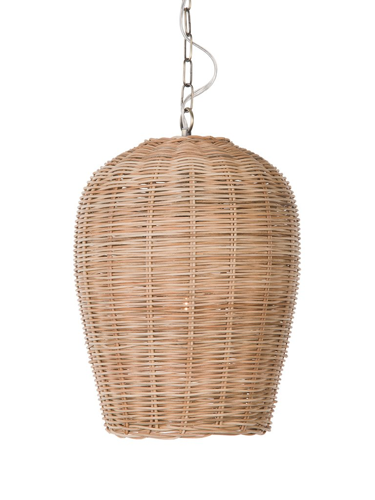 KOUBOO 1050105 Panay Wicker Pod Hanging Ceiling Lamp One Size Wheat