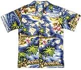 Hawaiian Shirt Wholesale Boys Hawaiian Shirts - Hawaiian Shirts - Aloha Shirt - Hawaiian Clothing - 100% Cotton Navy 14/L