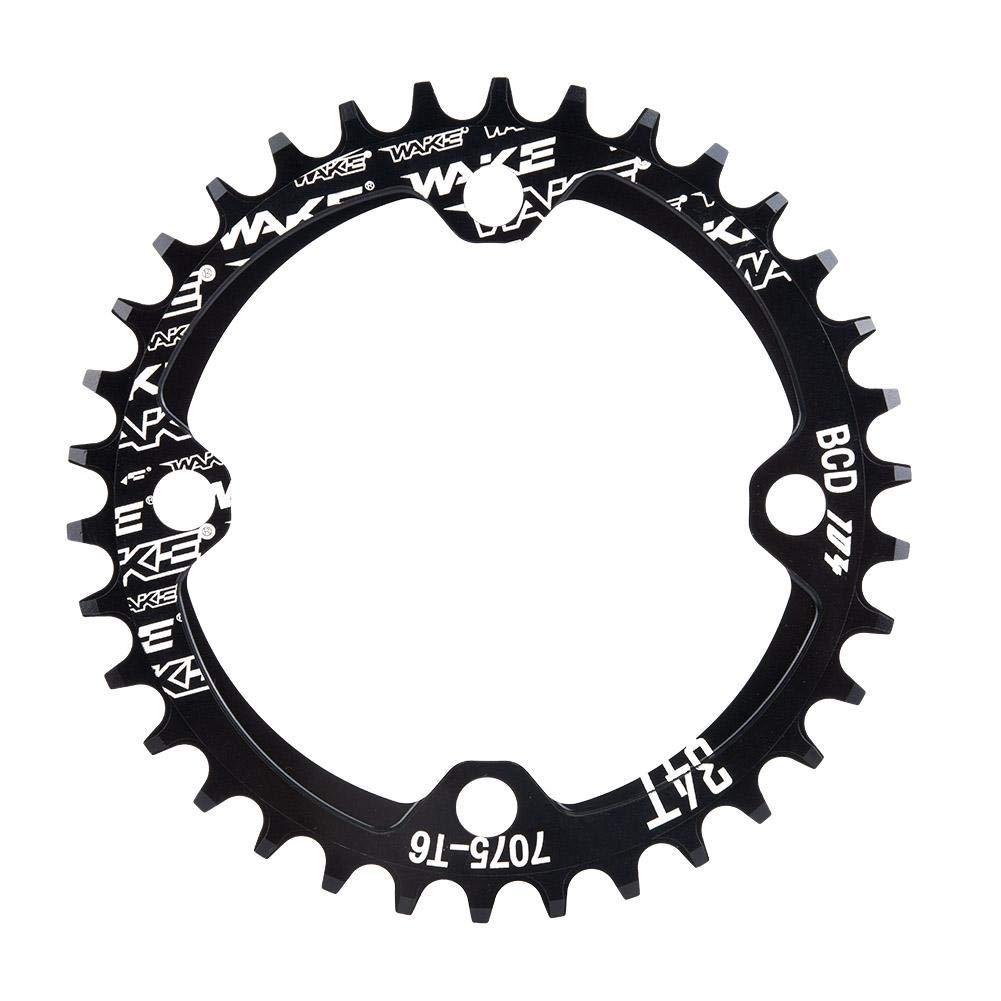 32T 34T 36T 38T Chainring 104 BCD Narrow Wide Chainring for Road Bike, Mountain Bike, BMX MTB Bike(Black 32T) VGEBY