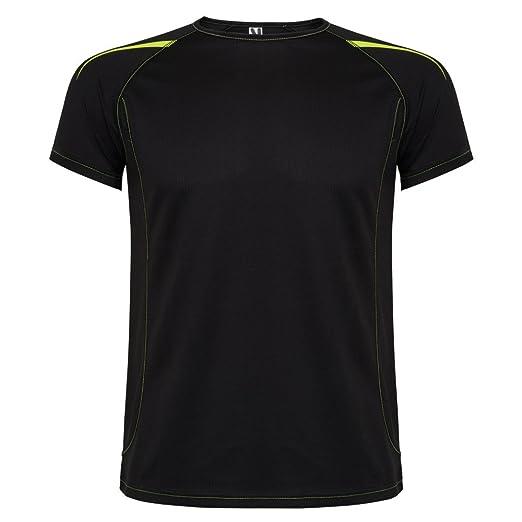 Roly Camiseta técnica de Hombre, Negra, Sepang: Amazon.es: Ropa y accesorios