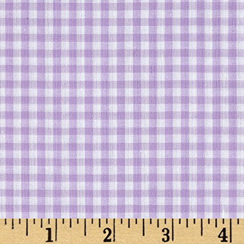 Richland Textiles Richcheck 60in Gingham Check 1/8in Lilac Fabric by The ()