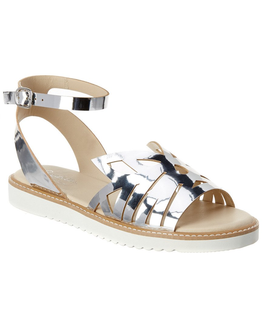 Seychelles Catnip - Silver Mirror Leather Cut-Out Low Platform/Wedge Sandal B01L82KBM0 6 B(M) US|Silver