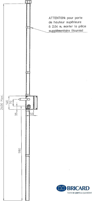 White Bricard 74621 S/érie 74 Vertical 3 Point Lock
