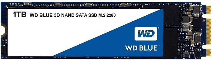 Amazon.com: Western Digital WD Blue 3D NAND SSD interno para PC - SATA III 6 Gb/s, M.2 2280, hasta 560 MB/s - WDS100T2B0B: Computers & Accessories