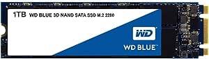 Western Digital WDS100T2B0B M.2 1TB SSD Blue, 3D NAND, Read 560MB/s, Write 530MB/s, 179K IOPS, 5 Years Warranty