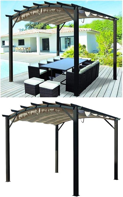 HABRITA Pergola Arco Aluminio y Acero: Amazon.es: Jardín